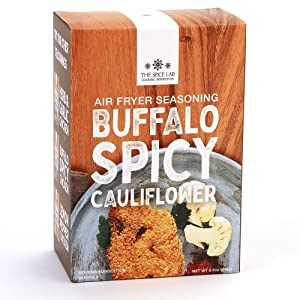 The Spice Lab Air Fryer Kit – Panko Buffalo Spicy Cauliflower, Tofu, and Vegetable Seasoning 8.3 oz - Perfect Flavored Panko Breadcrumbs and Rice flour for Vegan Cauliflower or Veggies – serves 8