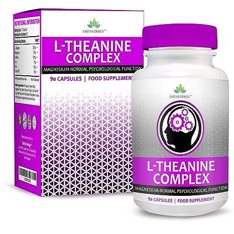 Suplemento de L-Teanina - Complejo de Alta Concentración con Magnesio y Zinc Añadidos -