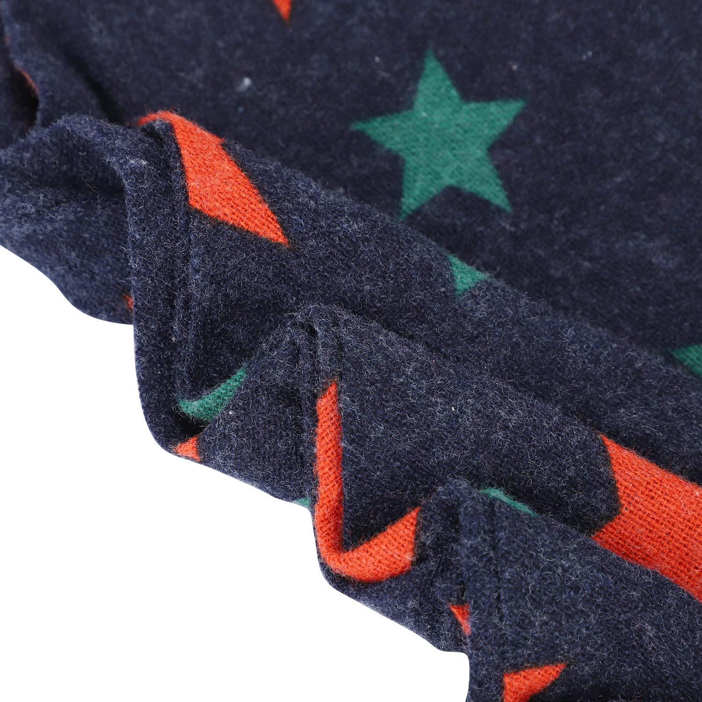 LONTG Foulards en Coton Fille Garçon Echarpe Triangulaire Multifonctionnel  Bébé Bavoir Multicolore à Pompons Châle étoile Frange d automne Printemps  ... e845121503f
