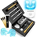 AquaHomeGroup Teeth Whitening Kit with LED Light - Deluxe Whitener Set with Charcoal Toothpaste and Brushes - Tooth…
