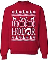 Ho Ho Ho HODOR Ugly Christmas Sweater Unisex Sweatshirts