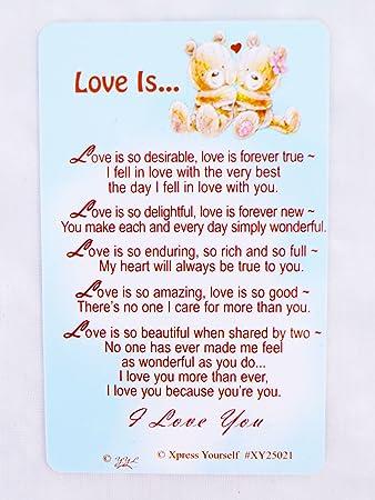 Love Is Andenken Wallet Karte Geburtstag Jahrestag Ihm Ihre
