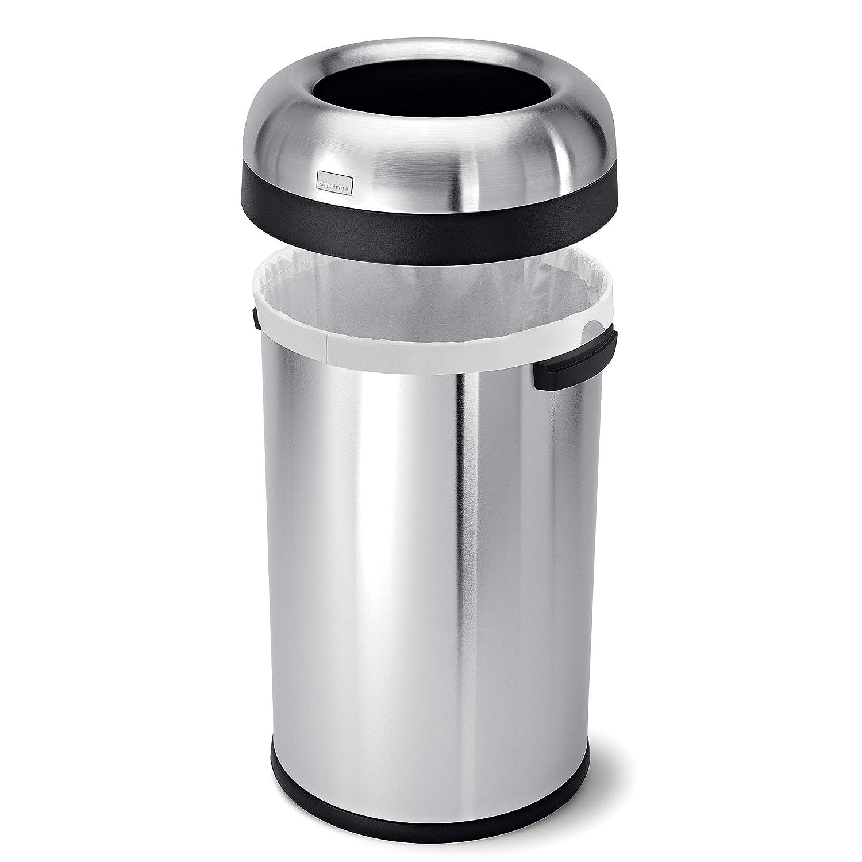 Amazon.com: Simplehuman Tacho de basura abierto, grado ...