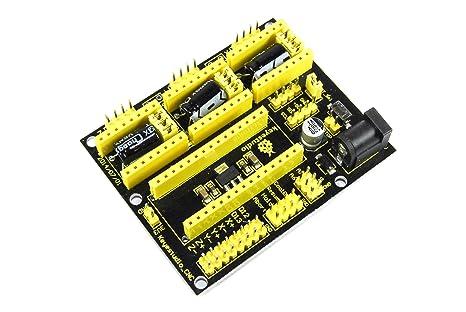 Keyestudio Arduino Nano CNC Escudo ks-152 V4 A4988 3d impresora 12 ...