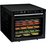 Rosewill Food Dehydrator Machine, 6-Tray Food Dehydrating Racks for Making Beef Jerky, Healthy Snacks Dry Fruit, Electric Dehydrator Food Preserver with Fast Drying Dual Fans - RHFD-18001