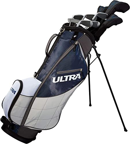 Wilson Golf Ultra Men s 9-Club, Left-Handed Set w Bag and Covers, Deepwater