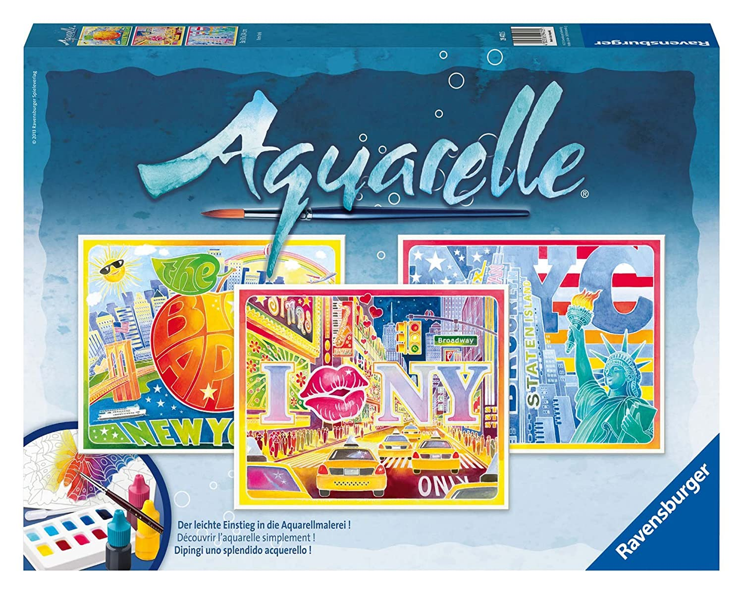 Ravensburger 29472 New York Aquarelle Maxi 30 X 24 Cm Amazon
