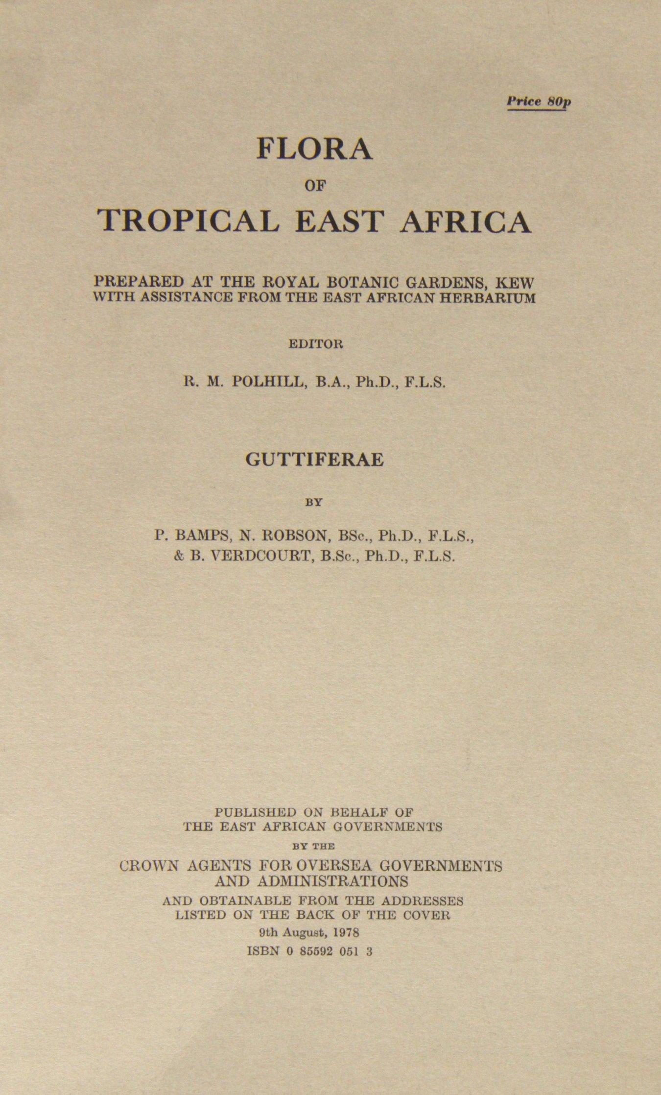 Download Flora of Tropical East Africa: Guttiferae pdf