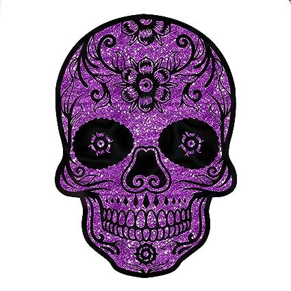 c13a4ed616d Amazon.com  Sugar Skull Purple Glitter Sparkle Day Of The Dead Sticker 4