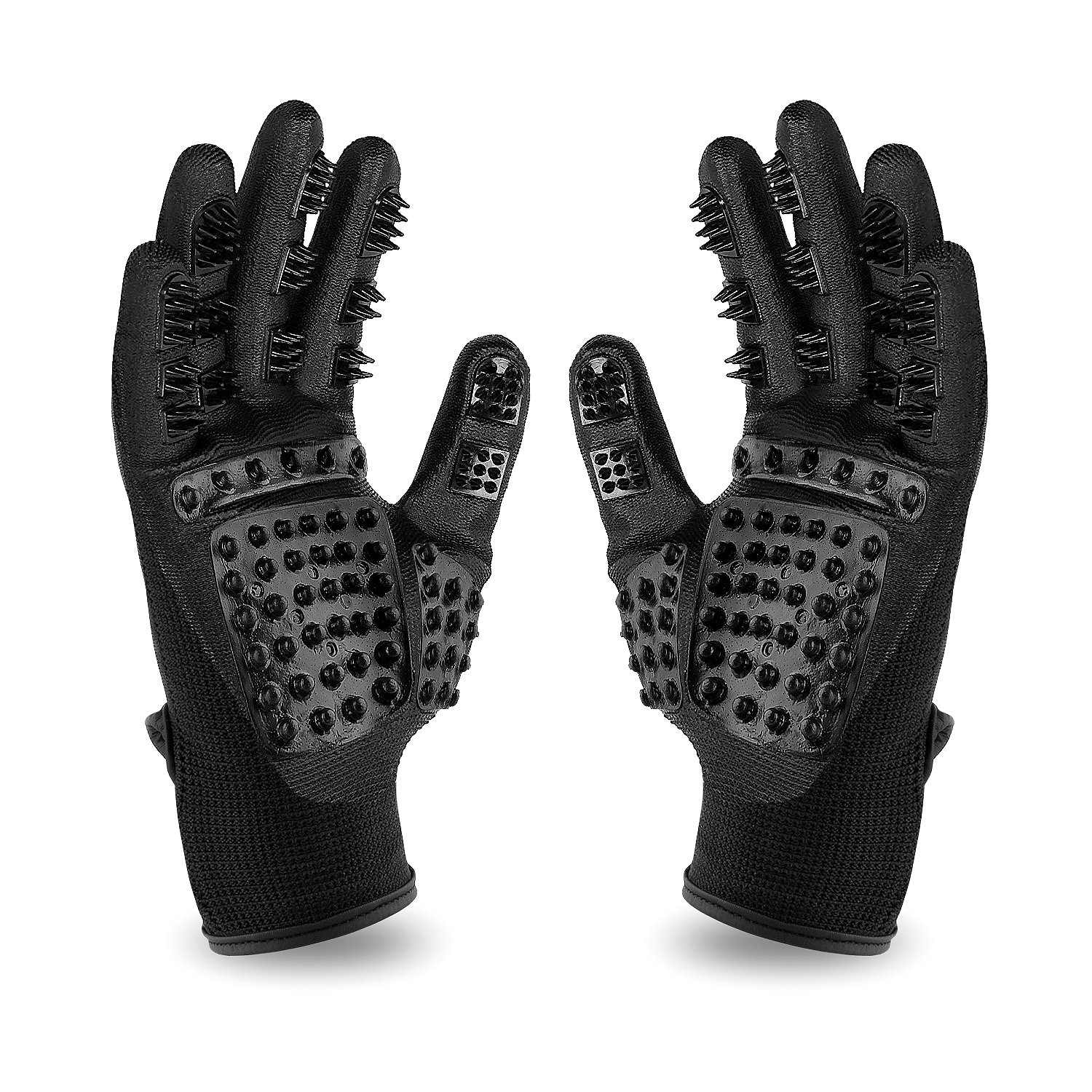 CASFANSTA Pet Grooming Glove, Gentle Pet Deshedding Glove for Dogs, Cats, Horses Effective Pet Hair Remover Brush Massage Gloves -1 Pair