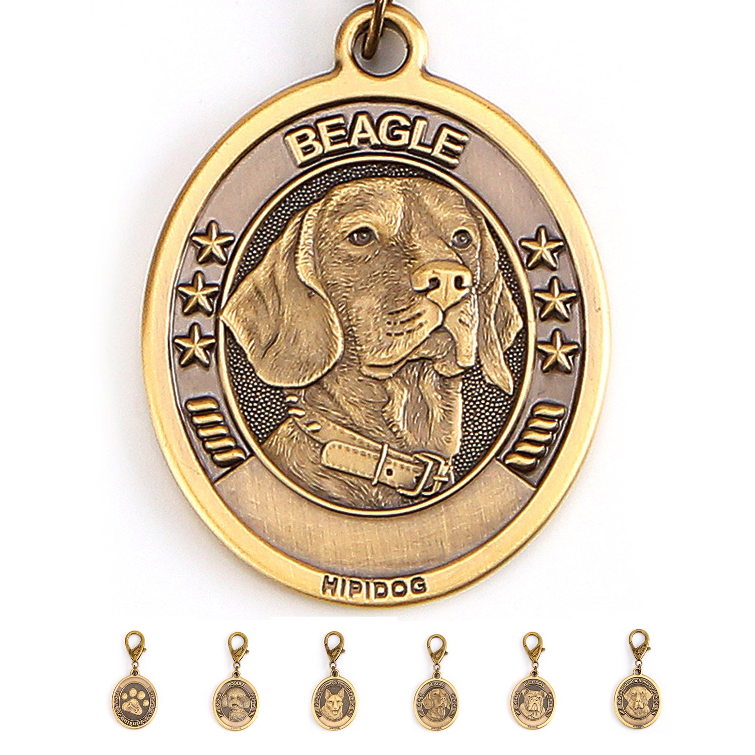 Personalized Dog Tags for Dogs Engraved, Premium Brass Custom Pet ID Tags for Small Medium Large Dog Breeds (Beagle)