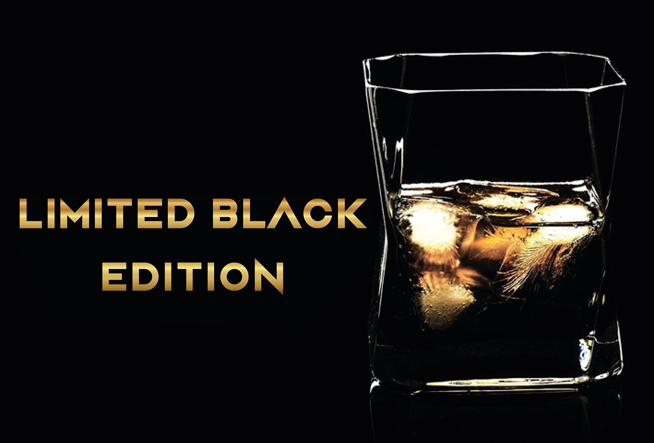 Whiskey Glasses Set of 2 in Gift Box- New Style Old Fashioned Drink Glasses - Glassware set - Scotch Brandy or Bourbon Tumblers, 10.5 oz. (Dark Black, Glass) by NICELY HOME (Image #6)