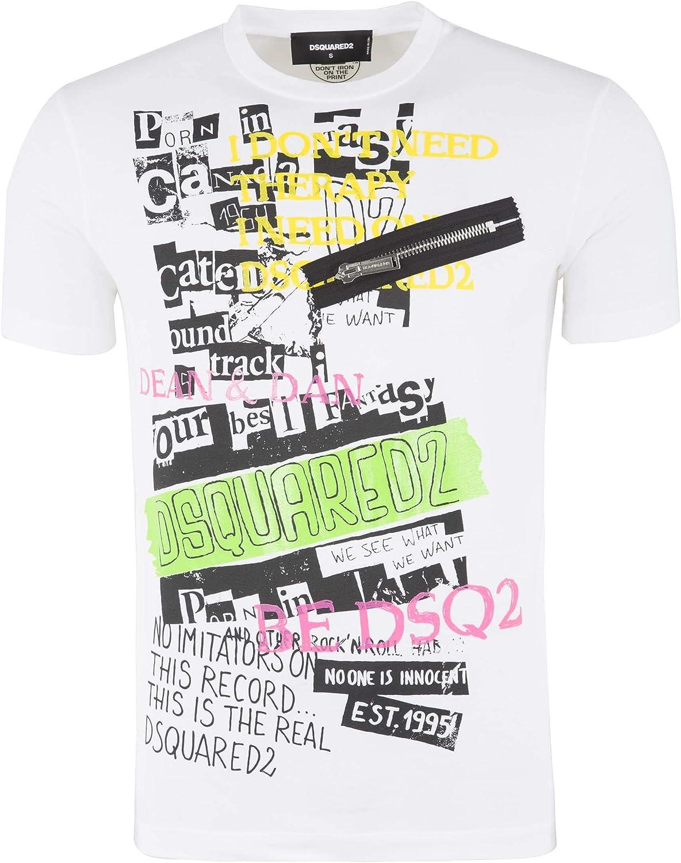 DSQUARED2 Hombre Camiseta Bianco XL: Amazon.es: Ropa y accesorios