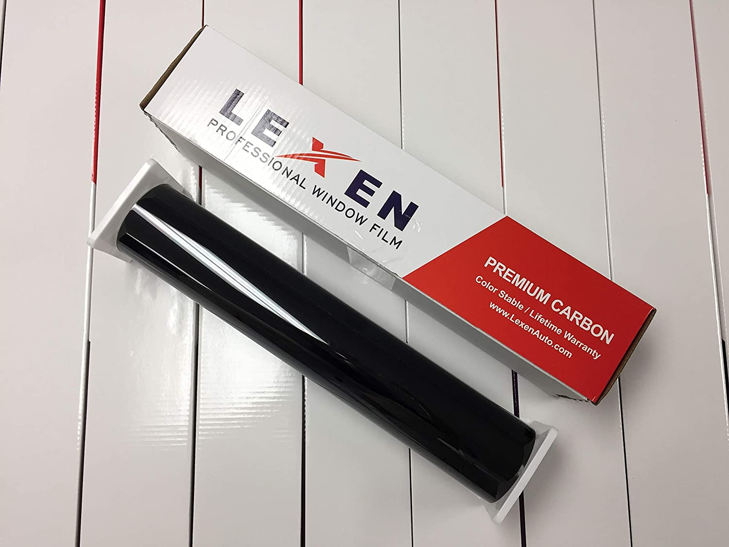 LEXEN 2 Ply Premium Carbon 20 Inches by 100 Feet Roll Window Tint Film}