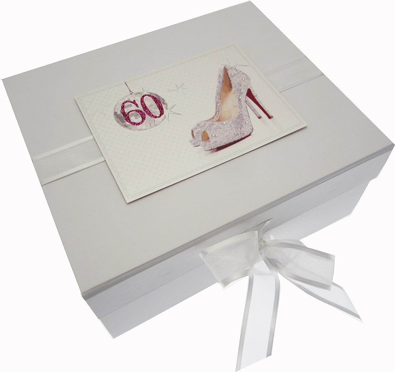 Tarjetas de algodón blanco 60mo cumpleaños del recuerdo de la bola ...