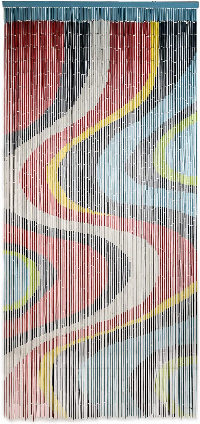 TACHILC Color Art Beaded Curtain, Doorway Beads Curtains, Hanging Beads for Doorways 35.5 inches x 78 inches, 90 Strands