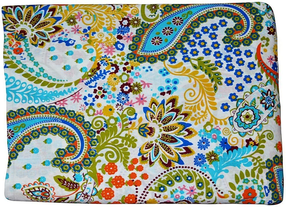 Indian handmade handblock 100/% pure cotton paisley print fabric