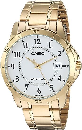 c501b416f379 Casio  MTP-V004G-7B - Reloj de hombre estándar de acero inoxidable ...