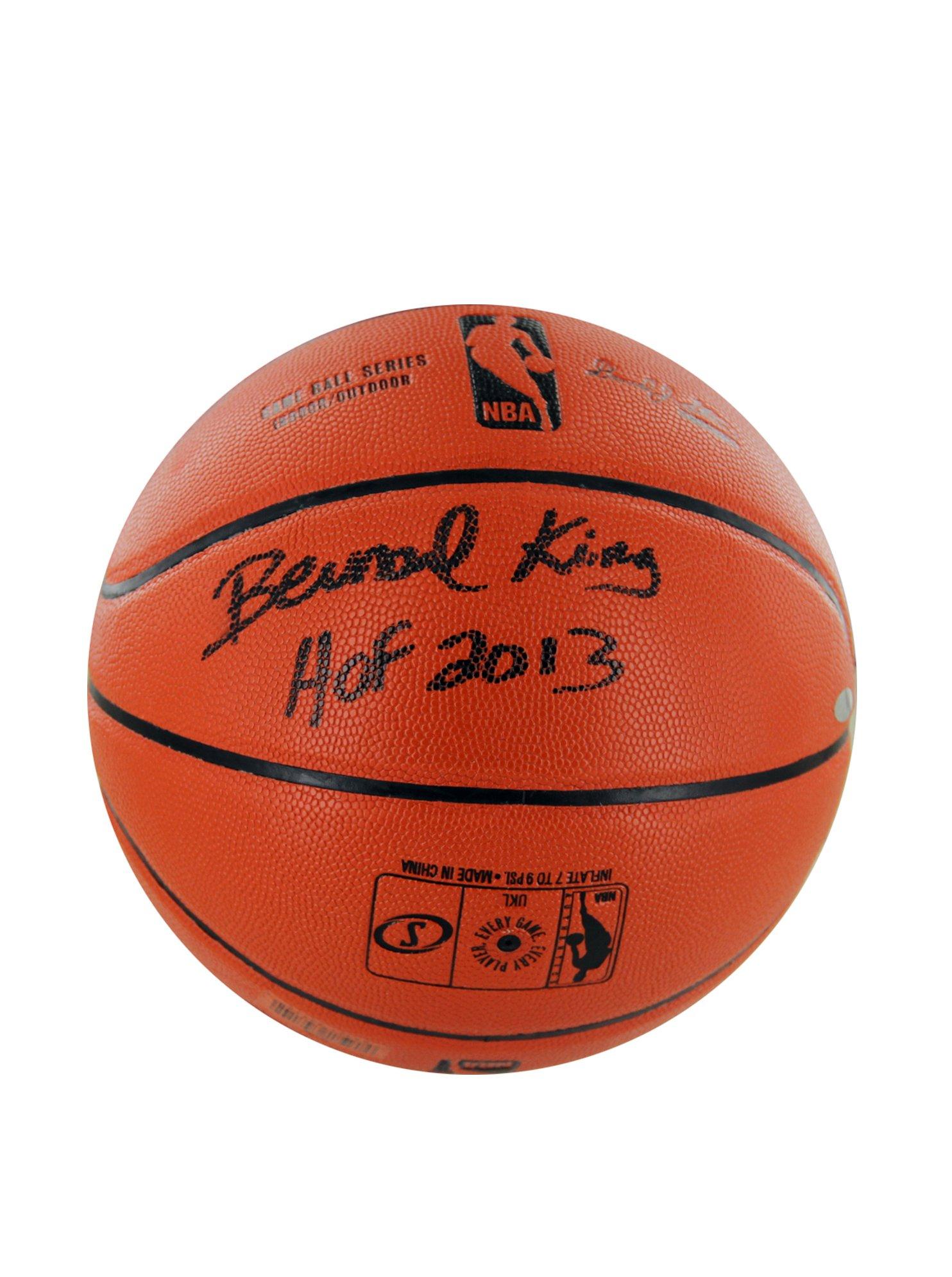 NBA New York Knicks Bernard King Signed I/O Basketball with ''HOF'' Inscription