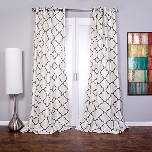 Lambrequin Morocco Flocked Curtain Panel