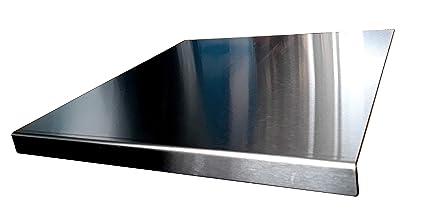 Piano di lavoro in acciaio inox per tagliare, Piatto o rotondo, diverse  misure e prezzi, con piedini in gomma antiscivolo, Acciaio INOX, argento,  500 ...