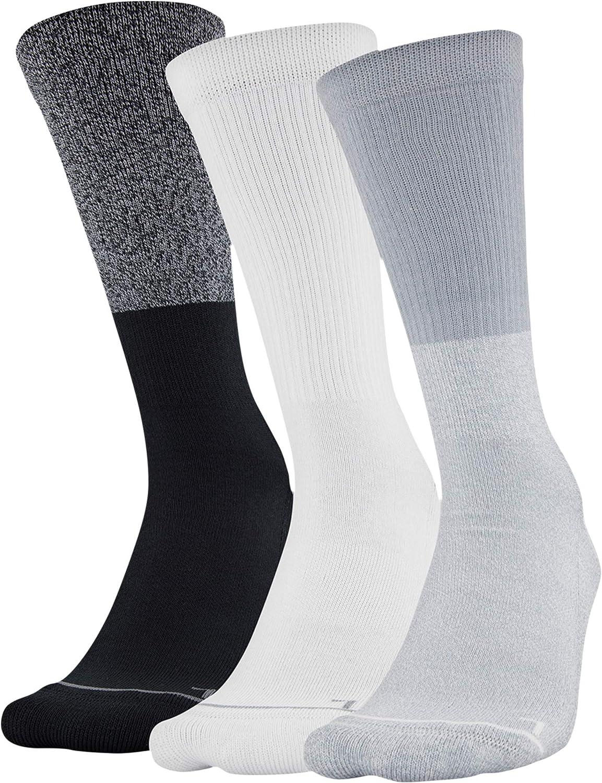 Under Armour Adult Phenom 5.0 Solid Crew Socks, 3-pair