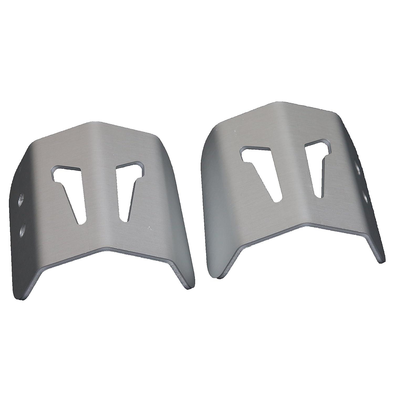 MyTech - Coppia protezione faretti in alluminio anodizzato Silver (2pz.) per - BMW GS R 1200 ADVENTURE LC dal 2014