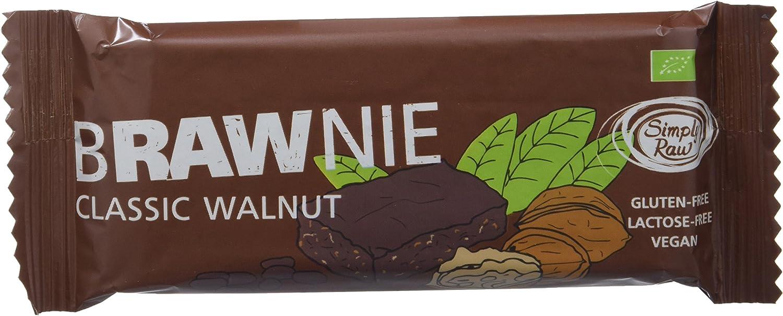 Brownie sin gluten con nueces SIMPLY RAW (16 unidades)