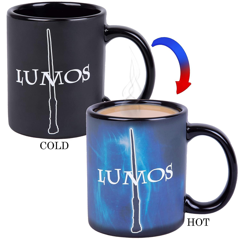 Nox Heat Reveal Ceramic Coffee Mug Harry Potter Lumos Magic Spells Activate with Heat!