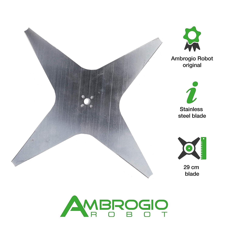 Ambrogio Robot Hoja de corte plana 29 cm de Estrella 4 puntas