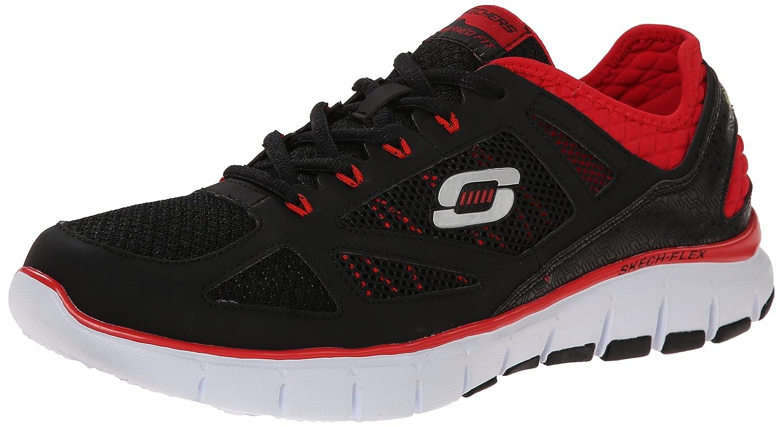 Skechers 51444 BKRD Skech Flex Life Force Athletic Shoe