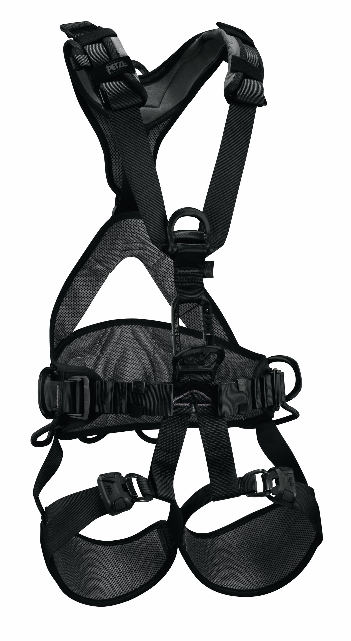 Petzl - AVAO BOD FAST International Version, Comfortable Harness for Fall Arrest, Size 0, Black
