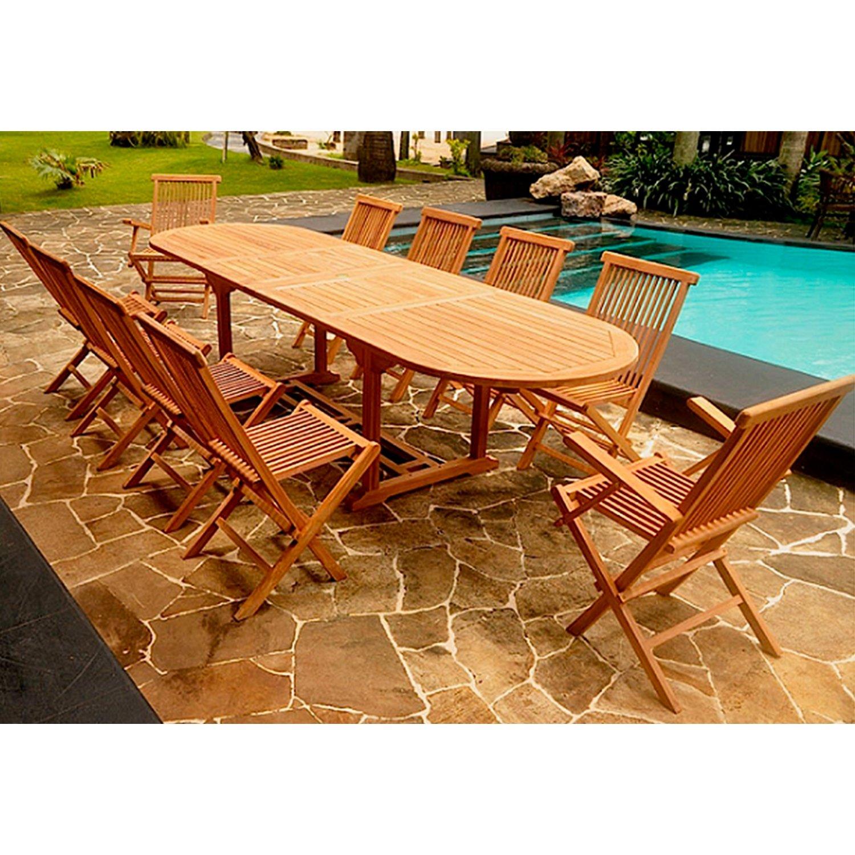 Concept-Usine Kajang: salón de jardín teca maciza 10/12 ...