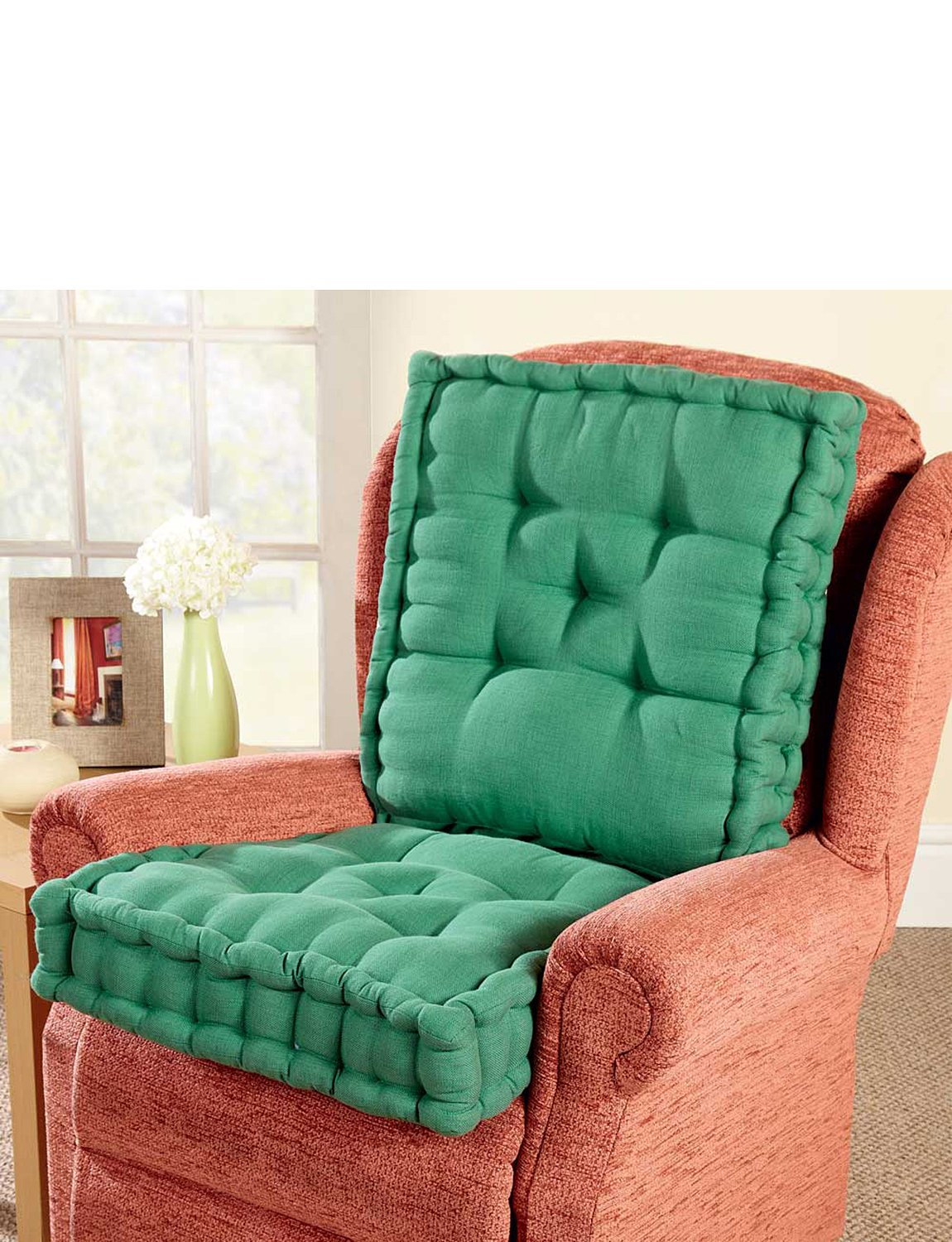 Luxury Back And Seat Booster Cushion Green One Size Chums