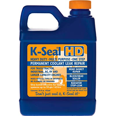 K-SEAL Coolant Leak Repair ST5516 Heavy Duty 16oz, Multi-Purpose Formula for Truck/Tractor Coolant Leaks in the Radiator, Head Gasket, Water Pump Casing & Heater Core, A True Pour & Go -Trade Trusted: Automotive