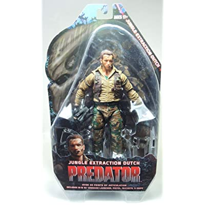 "Neca 7"" Predators Series 8 Jungle Extraction Dutch Schaefer Arnold Schwarzengger Action Figure: Toys & Games"