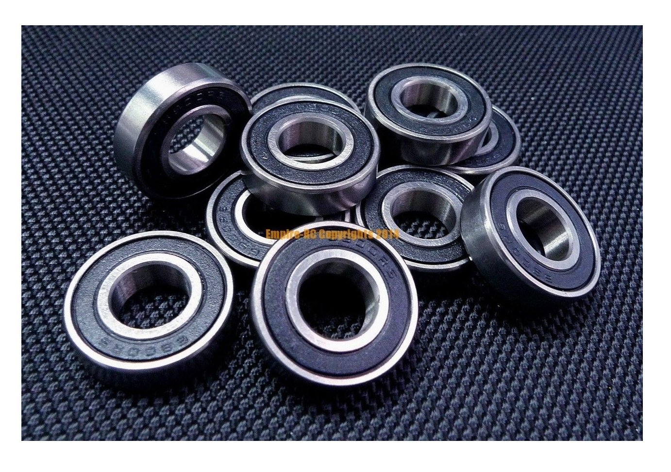 10 pcs 6903 2RS double rubber sealed ball bearing 17x 30x 7 mm