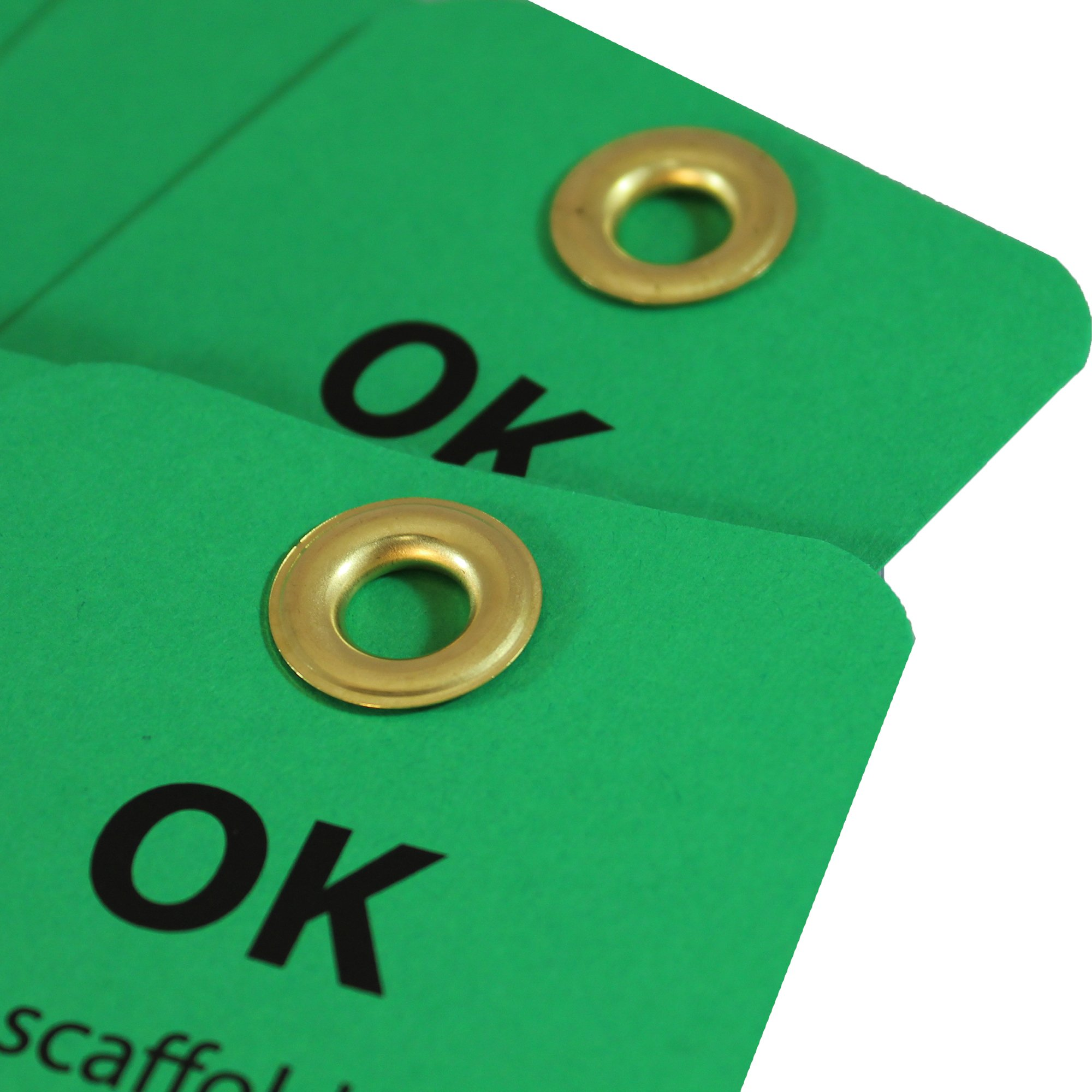 NMC SPT3 Accident Prevention Tag, ''OK - This Scaffold Meets OSHA Standards and Is Safe,'' 6'' Height x 3'' Width, Cardstock, Green by NMC (Image #3)