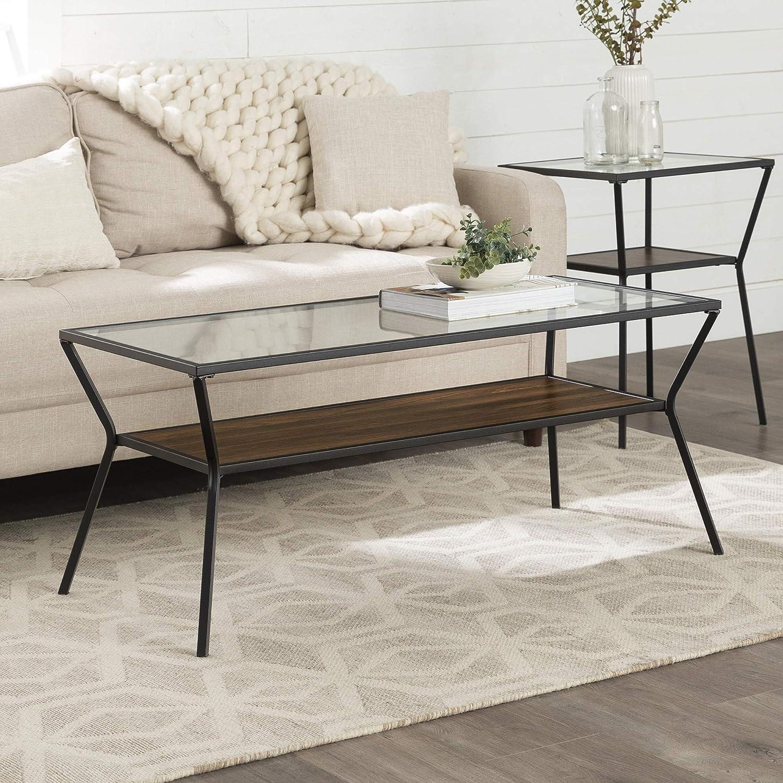 Walker Edison Furniture AZF42KAYCTDW Coffee Table, Dark Walnut