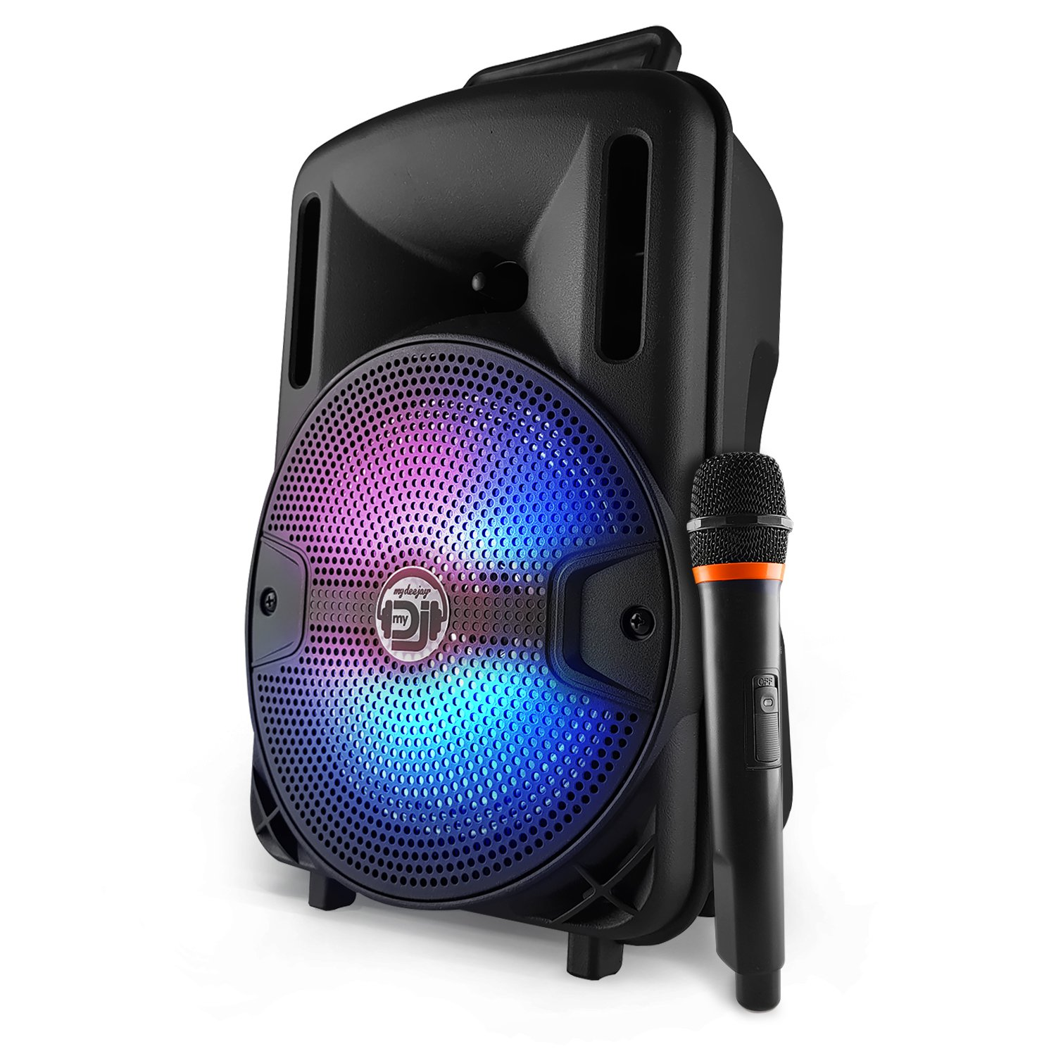 'Altoparlante batteria mobile Karaoke 8 400 W a LED USB/SD/Bluetooth + Micro + Telecomando + Cavo PC MyDJ