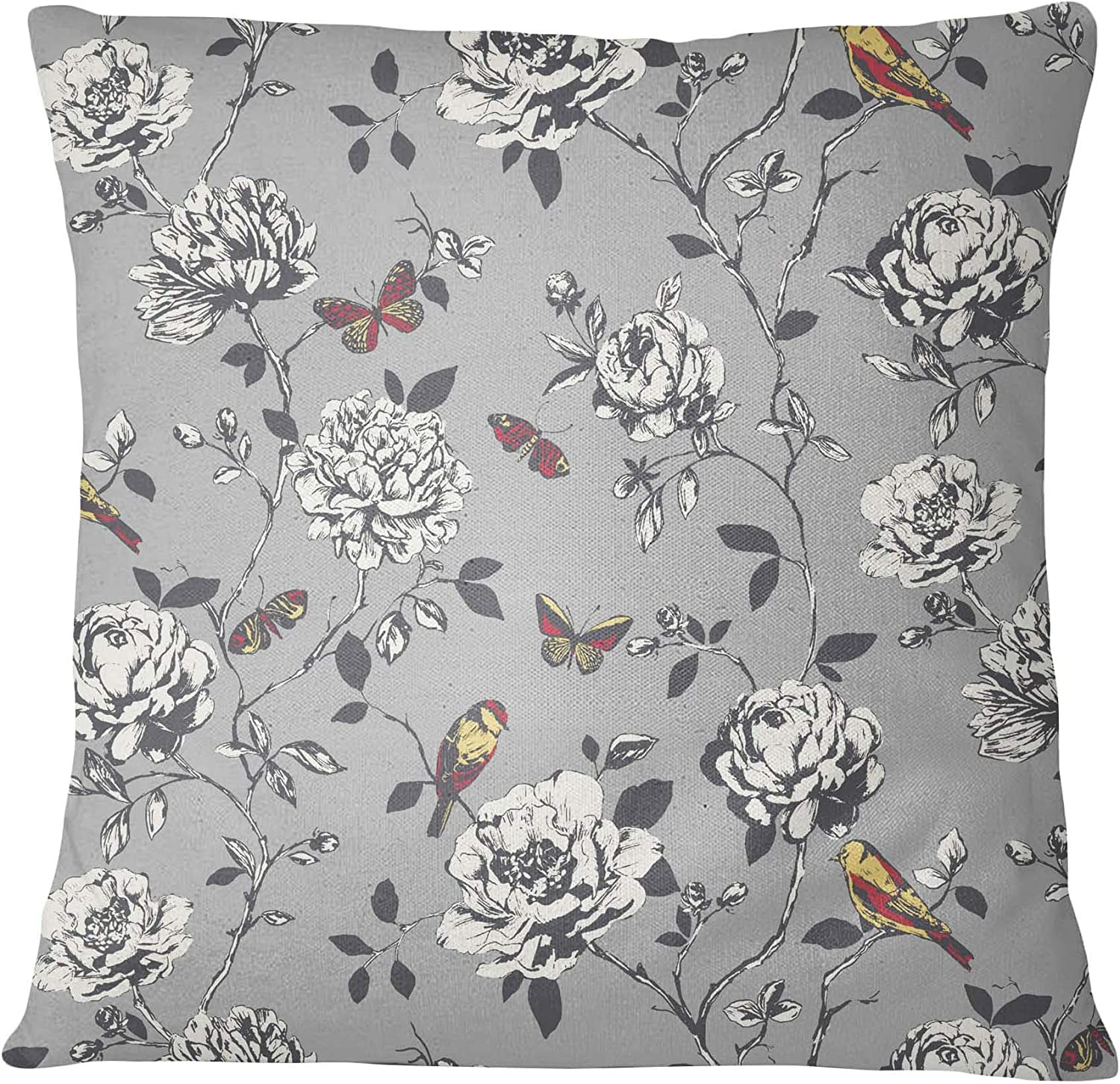 """Cushions Covers Heavy Weight  Floral Rose Jacquard  20/"""" 22/"""" 24/"""" 26/"""" Large Size"""