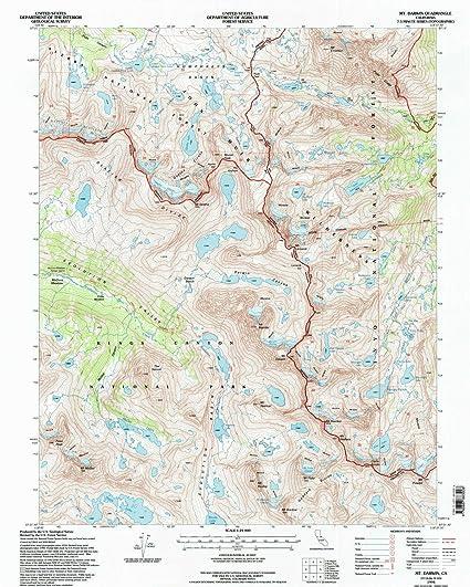 Darwin California Map.Amazon Com Yellowmaps Mt Darwin Ca Topo Map 1 24000 Scale 7 5 X