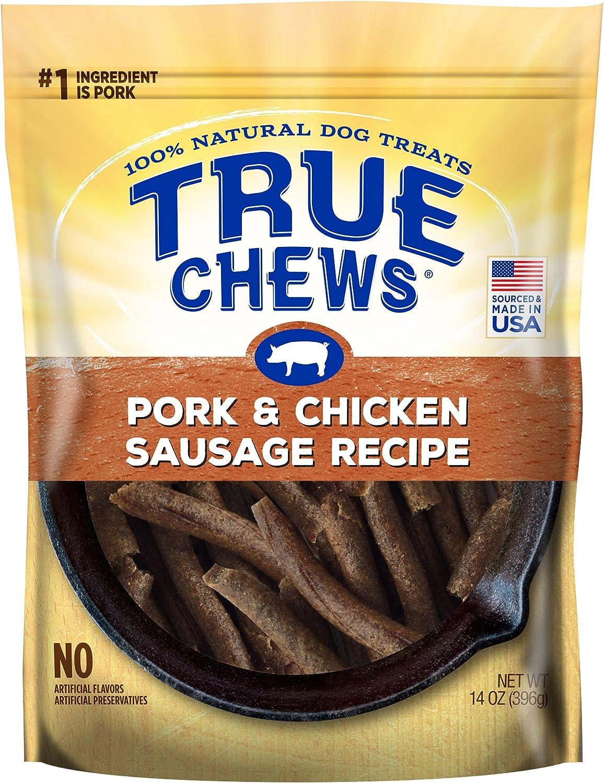 True Chews Pork & Chicken Sausage Recipe Dog Treats