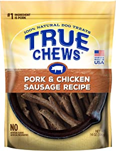 True Chews Pork & Chicken Sausage Recipe Dog Treats