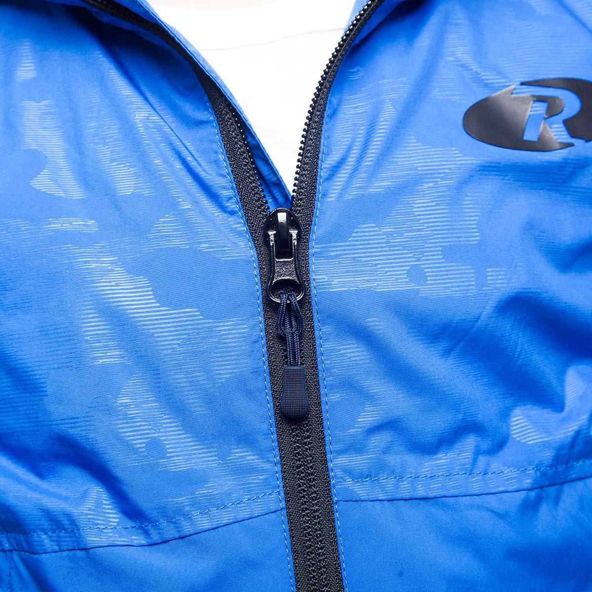 Rokka&Rolla Boys' Lightweight Water Resistant Zip-Up Hooded Windbreaker Jacket by Rokka&Rolla (Image #5)