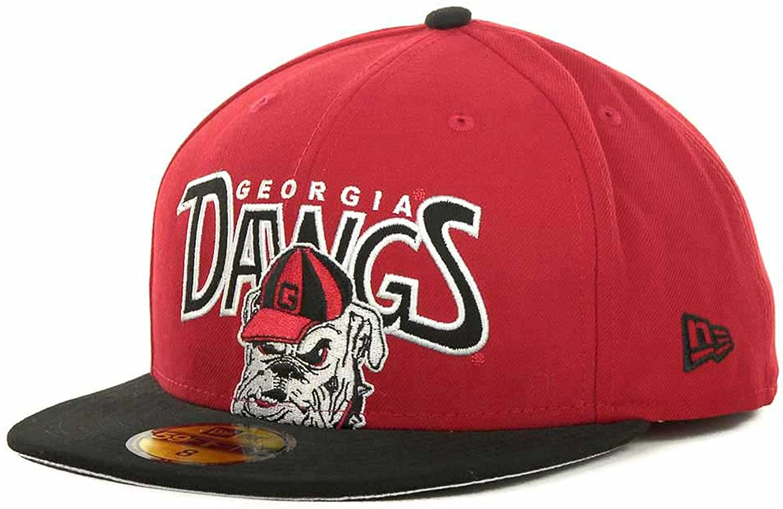New Era Georgia Bulldogs Profilin 59Fifty NCAA Fitted Cap Hat (7 1 2 ... 5894a6bb93b