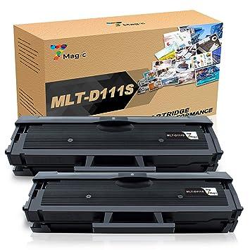 MLT-D111S Tóner, 7Magic MLT D111S Compatible para Samsung Xpress ...