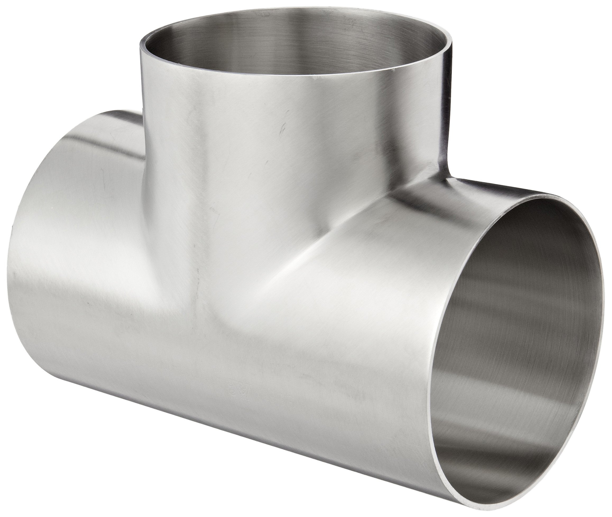 Dixon B7WWW-R300P Stainless Steel 316L Polished Fitting, Weld Short Tee, 3'' Tube OD