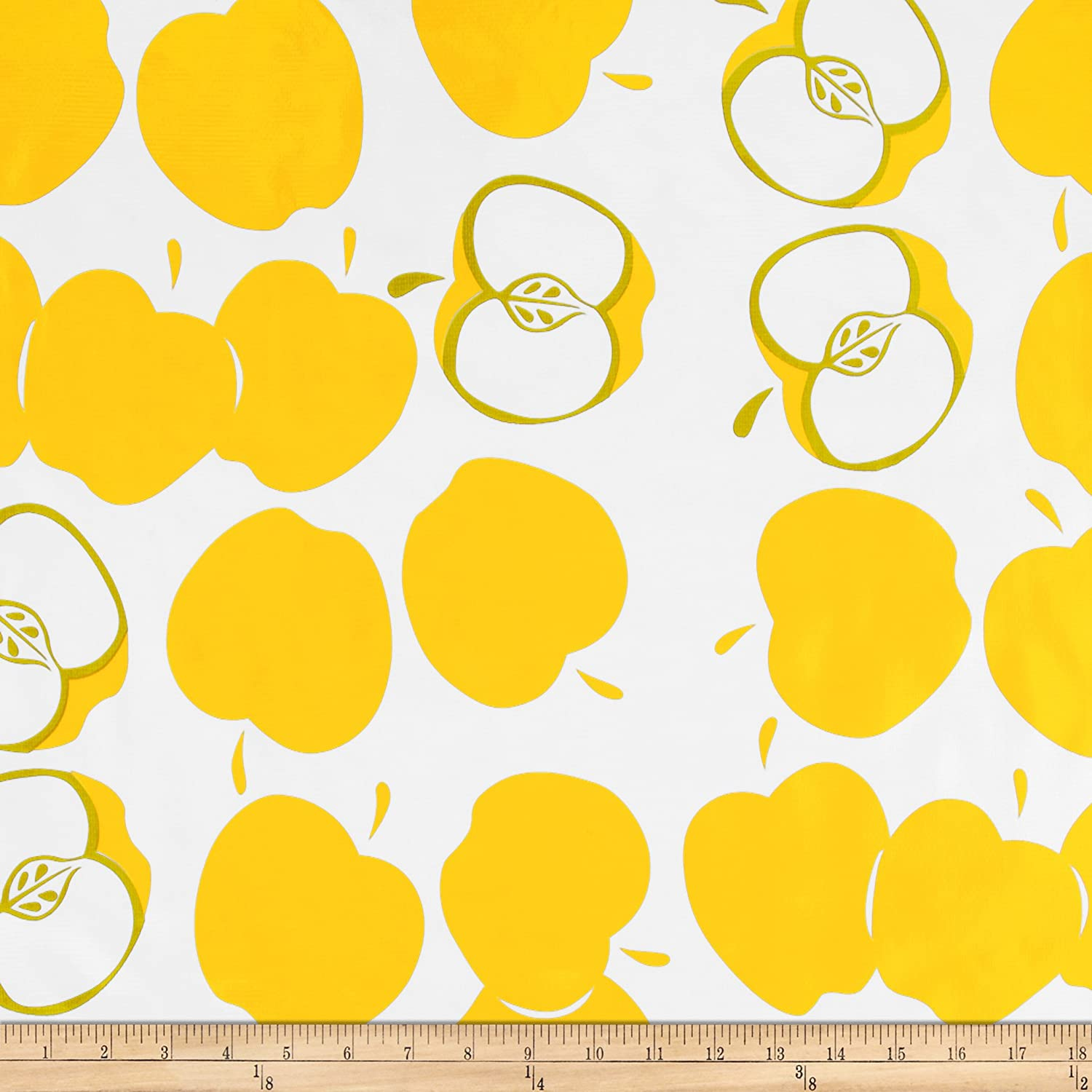 """2.5 /"""" WIRED YELLOW ORGANZA WITH ORANGE,WHITE,/&GREEN CIRCLES    25/' ROLLS"""