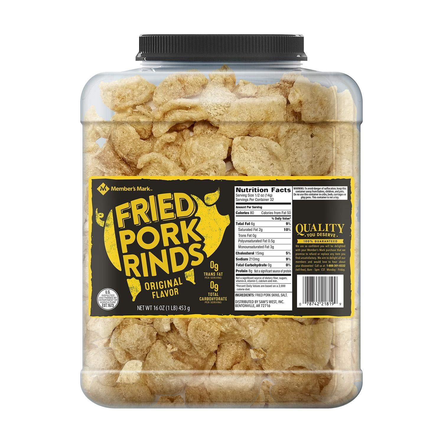Member's Mark Original Fried Pork Rinds 16 oz. (pack of 4) A1 by Store - 383 (Image #1)